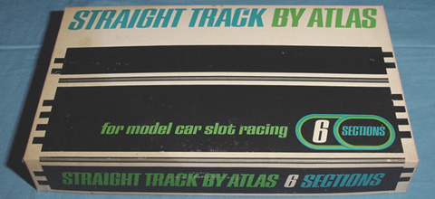 Atlas 124 132 Scale Home Racing Straight Slot Car Track Box Lid