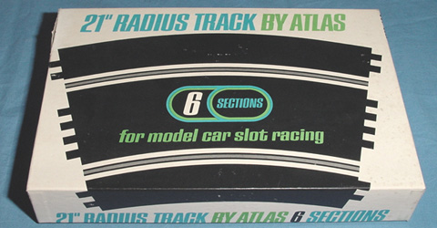 Atlas 124 132 Scale Home Racing Curved Slot Car Track Box Lid