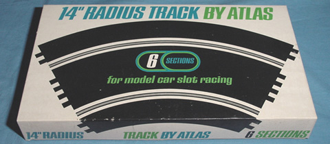 Atlas 1:24 1:32 Scale Home Slot Car Racing 14 Inch Radius 60 Degree Curved Roadway Track Box Lid