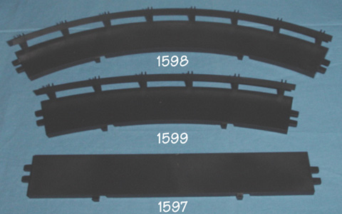 Atlas 1:24 1:32 Scale Home Racing Curved Slot Car Track Shoulder Aprons Comparison