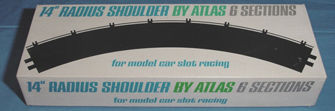 Atlas 1:24 1:32 Scale Home Slot Car Racing 14 Inch Radius Outside Curved Roadway Shoulder Aprons Box Lid