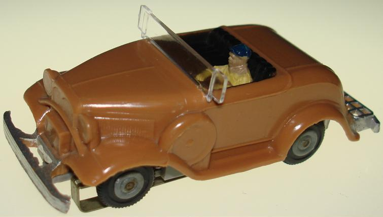 Atlas Stock Number 1280 HO Scale Ford 1930 Touring Slot Car Hot Rod Roadster Hood