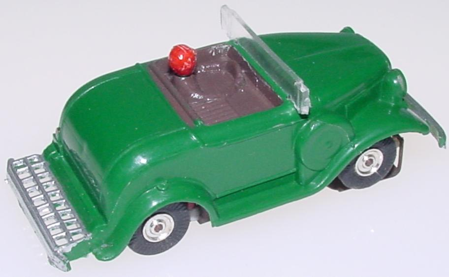 Atlas HO Scale 1930 Ford Touring Car British Racing Green Slot Car Hotrod Roadster Bumper