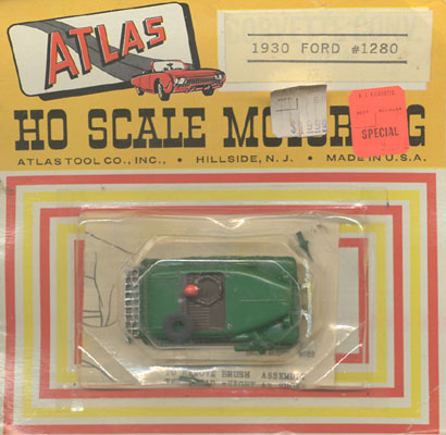 Atlas HO Scale 1930 Ford Touring Car British Racing Green Slot Car Hotrod Roadster MOC