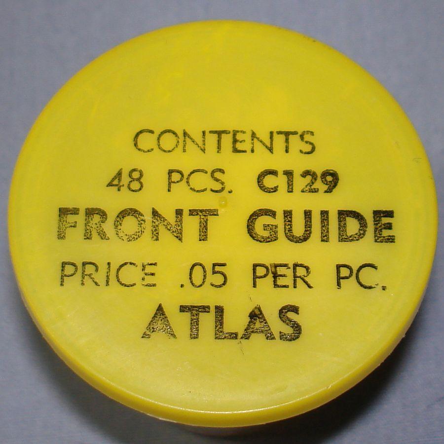 Atlas HO Slot Car Racing Chassis Service Parts C129 Front Guide Vial & Lid