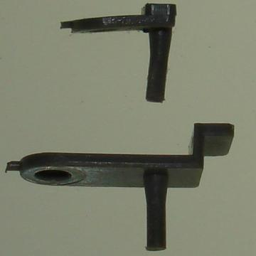 Atlas HO Slot Cars C130 Rear C 129 Front Guide Pin Comparison