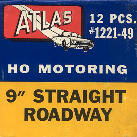 Atlas HO Slot Cars 9 Inch Straight Track Box