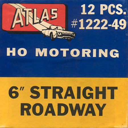 Atlas HO Slot Cars 6 Inch Straight Track Box