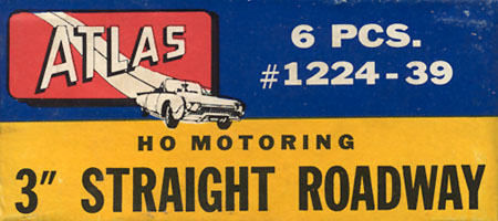 Atlas HO Slot Cars 3 Inch Straight Roadway Track Box