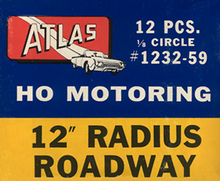 Atlas HO Slot Cars 12 Inch Radius Curved Track Box