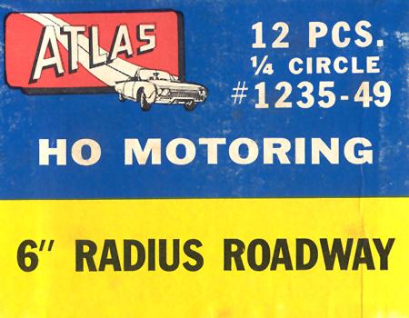Atlas HO Slot Cars 6 Inch Radius Curved Roadway Track Box