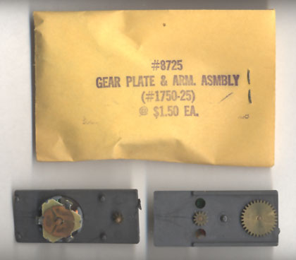 Aurora Super Model Motoring O Gauge SlotCar Gear Plate & Armature SlotCar Chassis Part