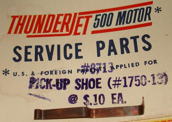 Aurora Super Model Motoring 1:48 Scale Slot Car Pickup Shoe