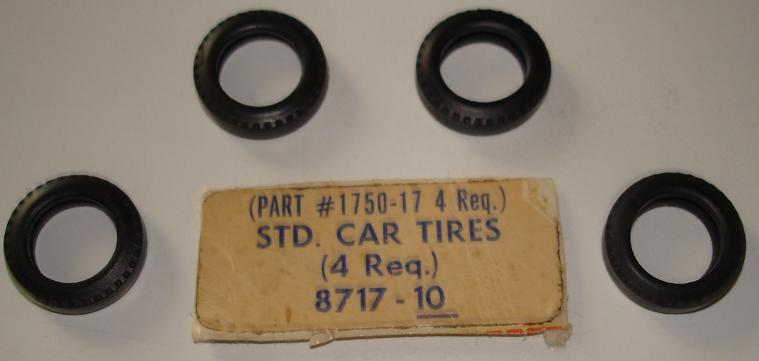 Aurora Super Model Motoring 1:48 Scale SlotCar Replacement Parts 4 Standard Tires