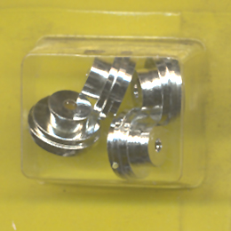 Super Model Motoring Slot Car Racing Parts Chrome Hubs