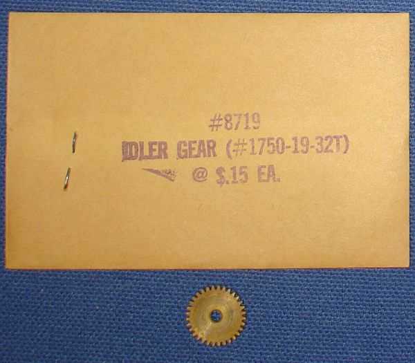 Super Model Motoring Thunderjet 500 Motor Slot Car Racing Service Parts Idler Gear Envelope